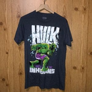 Hulk battles the inhumans tee